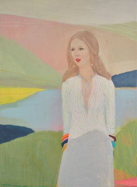 'Louise Olsen, a beautiful summary', acrylic and pastel on polyester canvas, 157 x 116cm