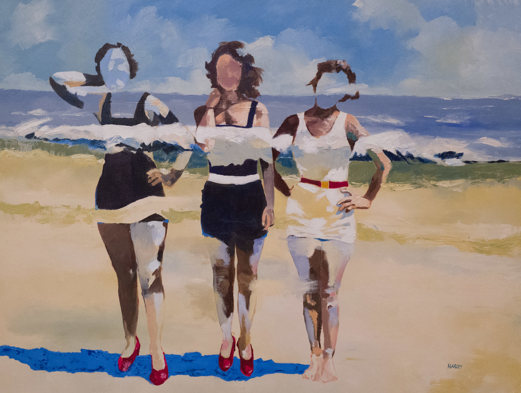 'They had red shoes', 2016, oil on linen