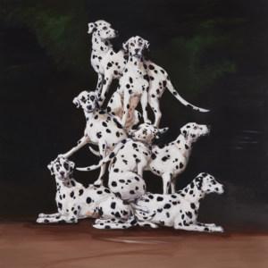 JBraithwaite,Social Climbers,2016,oil on canvas, 196 x 196 cm copy