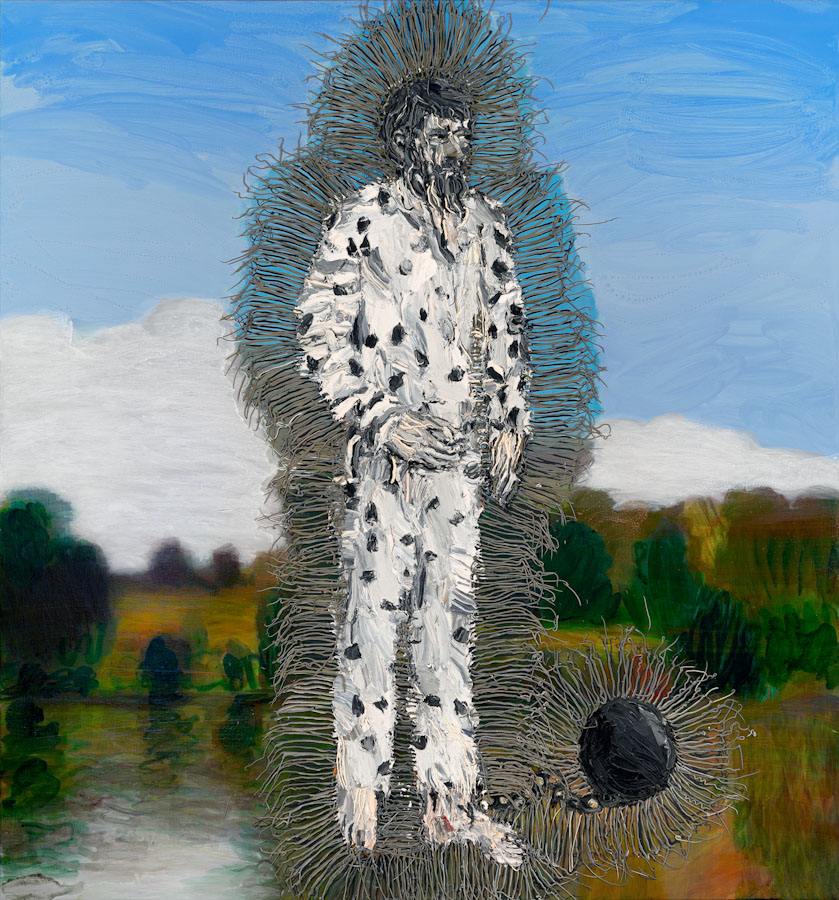 Robert Forrester #2, 2013, oil and acrylic on polyester, 194cm x 179cm
